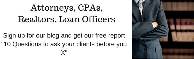 Attorneys, CPAs, Realtors